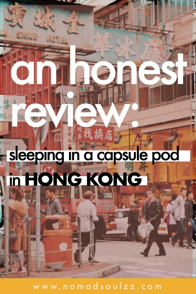 The in's and out's of sleeping in a futuristic capsule pod hostel in Hong Kong.