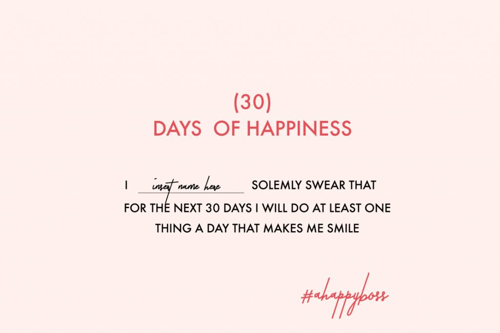 30 day Happiness Challenge by CreativeAndCoffee