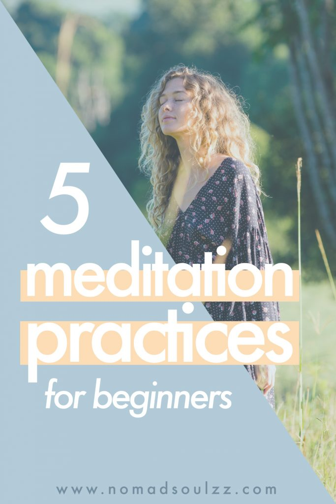 Namaste! Meditation for Beginners. Tips on how to ignite your transcendental self-care journey. Where to begin and what the difference is between a guided meditation and mantras. The 5 most common meditation practices introduced!