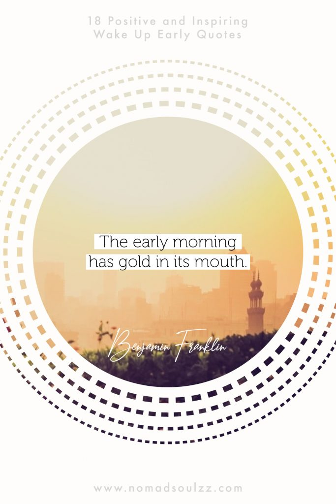 Waking up has never been so motivating. It's never too early to start inspiring yourself with these positive wake up early quotes. #wakeupearly #morningmotivation