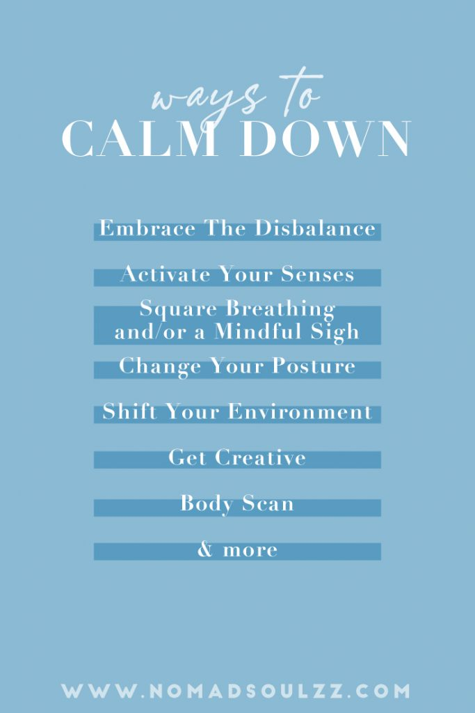 Real, honest and proved ways to calm down right now! Master the art of shifting and feel the relief instantly. Mental self-care, here I come!